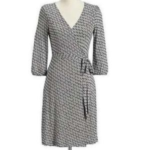 NEW OLD NAVY Black White Wrap Dress XXL
